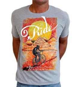 Grey t-shirt Ride Until the Sun Sets 003-MCGR