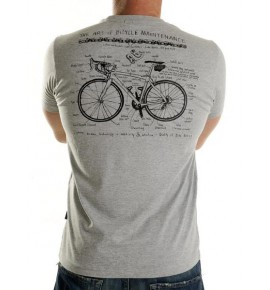 Grey t-shirt Art of Bike Maintenance 005-MCGR