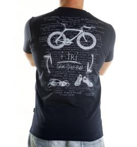 Modré tričko triatlon I Tri man 001-TMBL