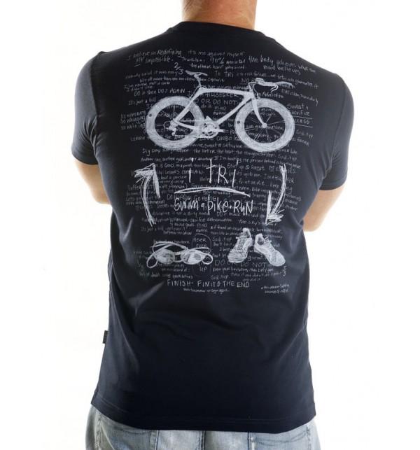 Tričko triatlon - modré